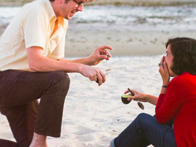 Avocado wedding proposals have to be a sign of the apocalypse