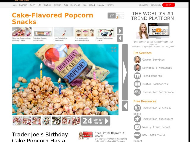 Cake Flavored Popcorn Snacks
