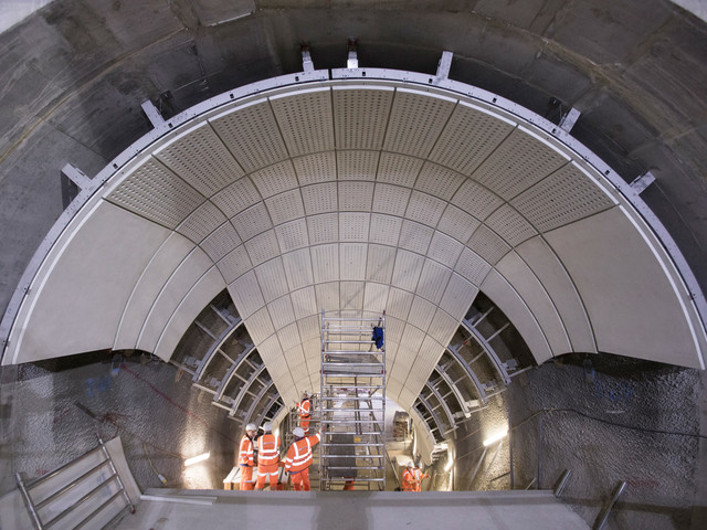 Photos show Crossrail boxes being turned into Elizabeth line stations