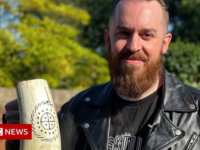Viking horns: Man turns lockdown hobby into business