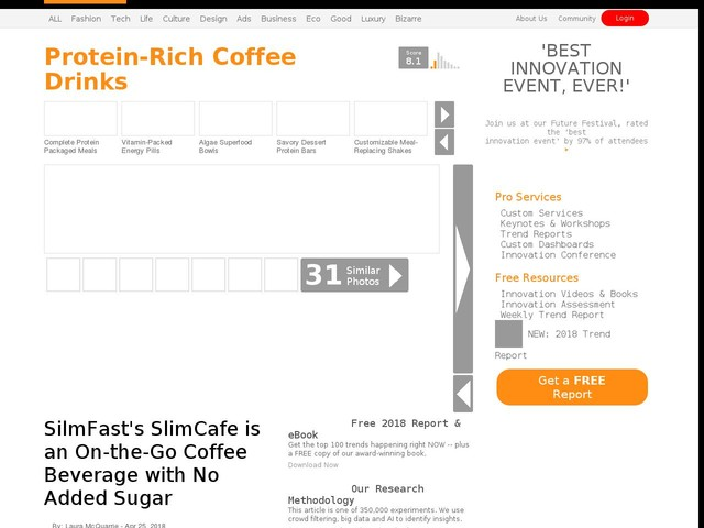 Protein-Rich Coffee Drinks - SilmFast's SlimCafe is an On-the-Go Coffee Beverage with No Added Sugar (TrendHunter.com)