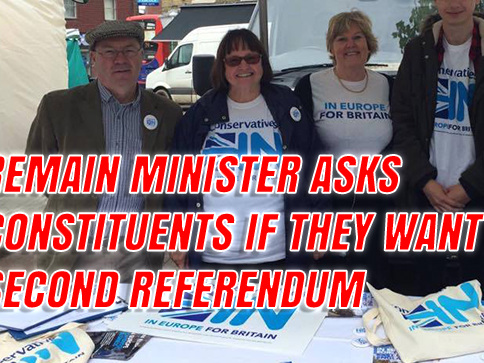 Remain Minister Asks Constituents If They Want Second Referendum