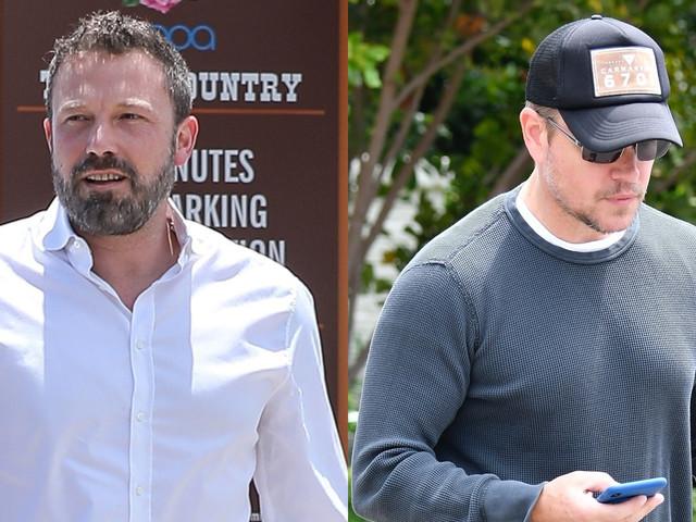 Ben Affleck & Matt Damon Step Out After Announcing New Movie!