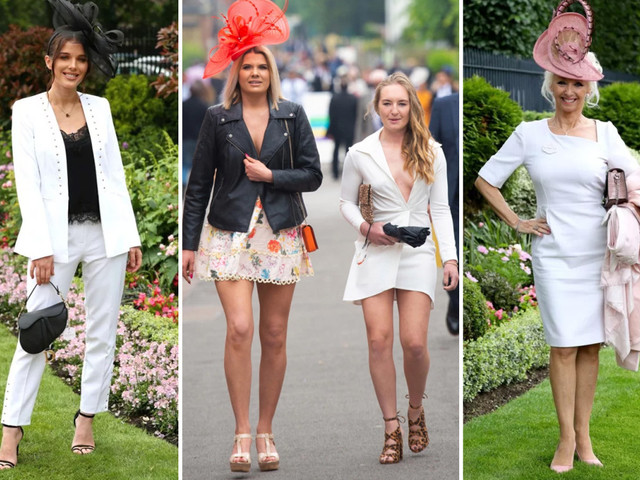 Celebs join the punters in glamming up for day two at Royal Ascot