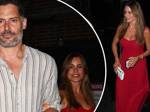 Sofia Vergara looks red hot in plunging gown as she enjoys romantic dinner date with JoeManganiello