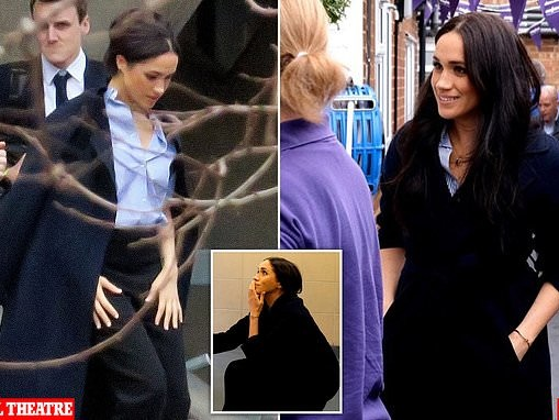 Meghan Markle wears £269 Massimo Dutti coat to Mayhew