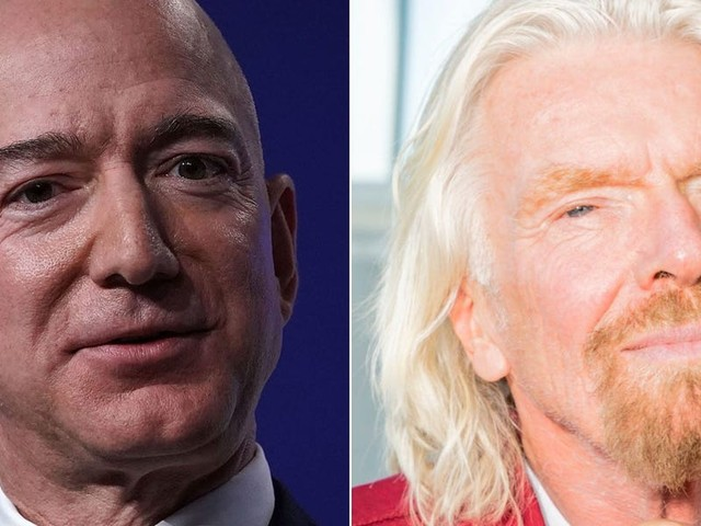 Jeff Bezos wishes Richard Branson 'a successful and safe' flight ahead of his journey to the edge of space