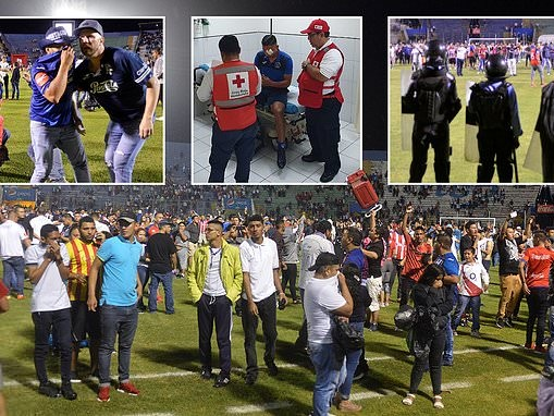 Sickening scenes sees three KILLED and seven injured as violence breaks out between fans in Honduras