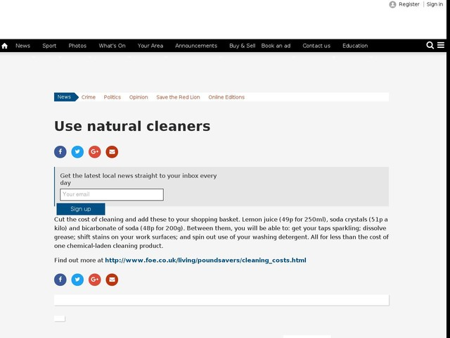 Use natural cleaners