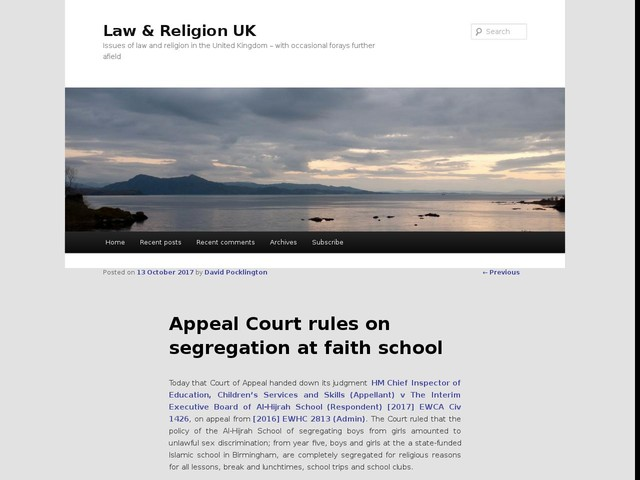 Appeal Court rules on segregation at faith school