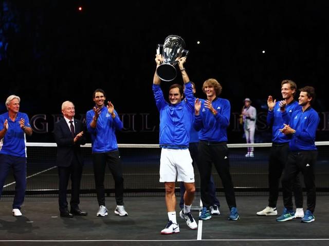 Rafael Nadal thanks Roger Federer after Team Europe win Laver Cup