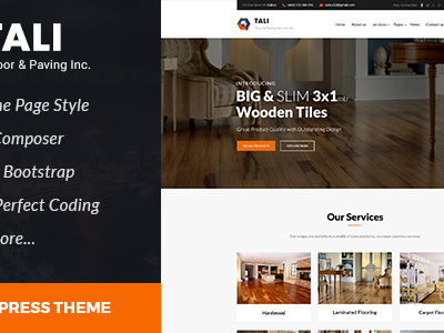 Tali :Paving Service WordPress theme (Business)