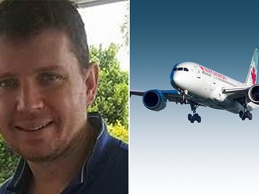 Chris Woodgate's wife pays tribute after he died on Air Canada flight to Brisbane from Vancouver