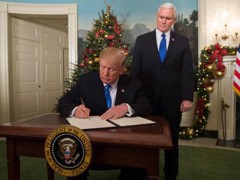 Trump recognises Jerusalem as Israel's capital