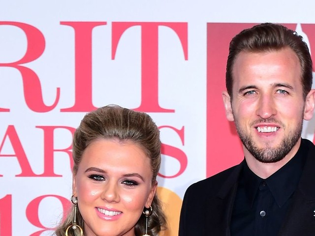 Harry Kane and fiancée Katie Goodland show support for Time's Up campaign with BRITs 2018 outfits