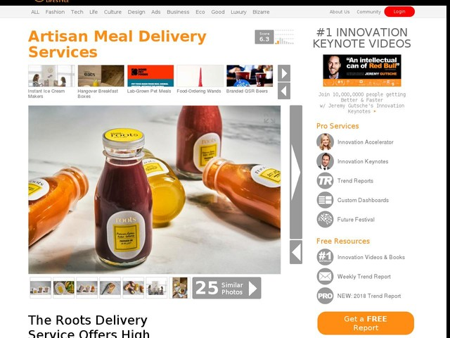 Artisan Meal Delivery Services - The Roots Delivery Service Offers High Quality Nutritious Products (TrendHunter.com)