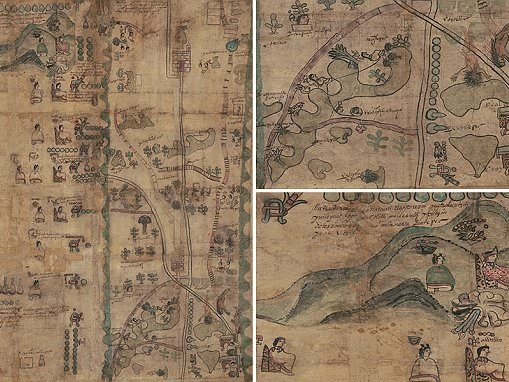Aztec map gives insight into Mexican life in the 1500s