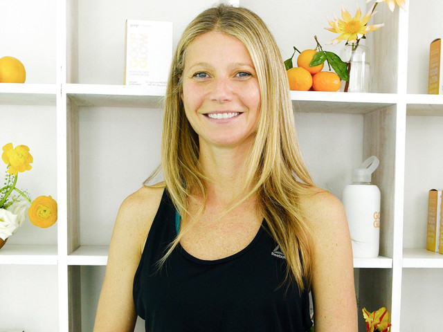 Gwyneth Paltrow Goes Makeup Free at 'goop' Launch Party!