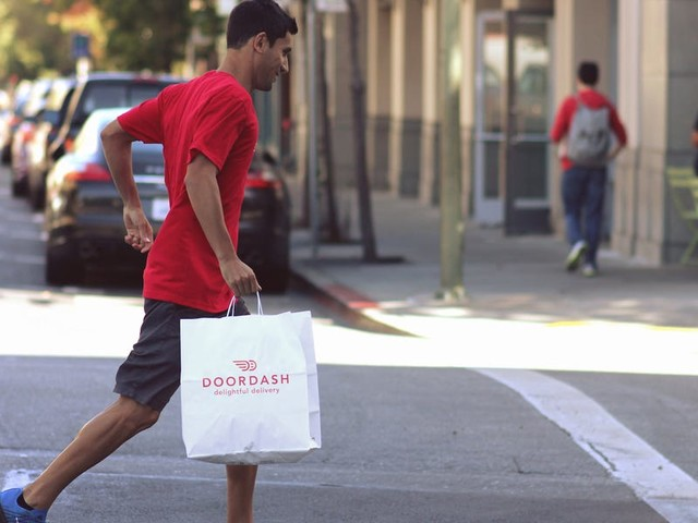 DoorDash has expanded the places where it's offering free hand sanitizer and gloves to delivery workers — but doesn't see a nationwide rollout until the end of the week