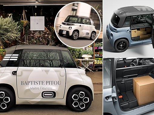 Citroen's My Ami Cargo is a tiny electric van with a 47-mile range