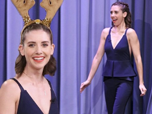 Alison Brie gushes about Golden Globe nomination on Fallon