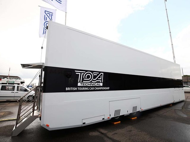 Behind the scenes at the BTCC's mobile technical centre