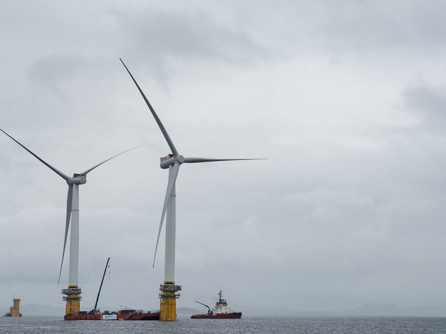 The World's First Floating Wind Farm Arrives In Scotland