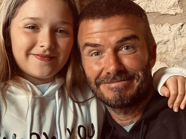 David Beckham shares snap of him with daughter Harper wearing Friends hoodies