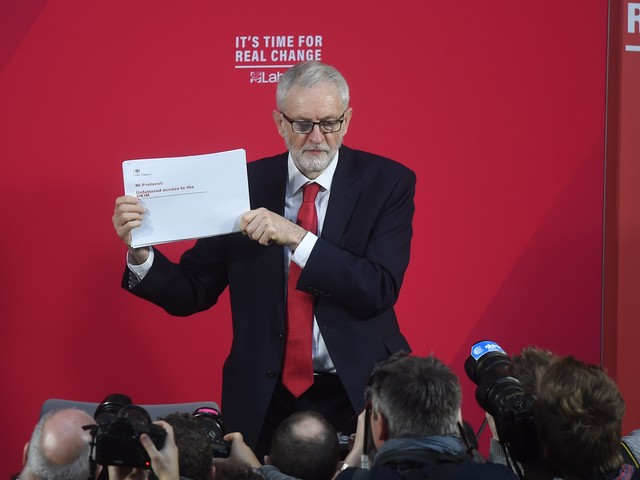What is in Jeremy Corbyn's leaked Northern Ireland document?
