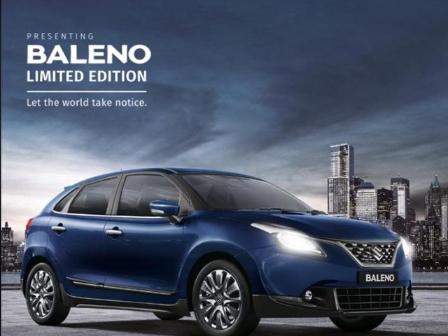 For a Small Extra Charge You Could Own a Limited Edition Baleno