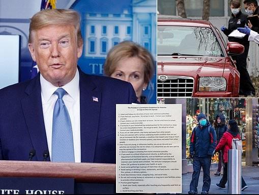 Donald Trump tells America to go on lockdown with 15 days to stop coronavirus