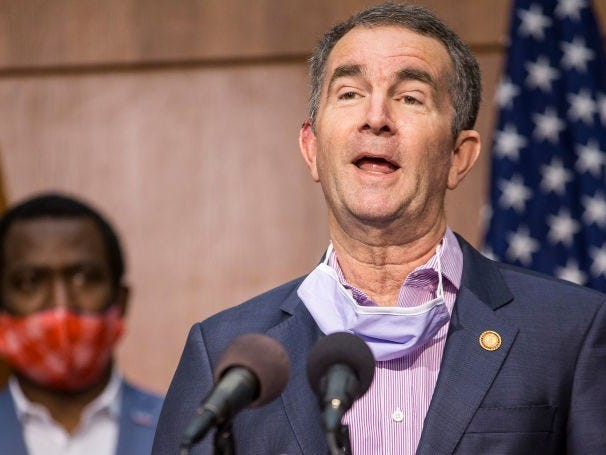 Virginia Gov. Ralph Northam and his wife test positive for coronavirus as health officials warn against Trump's scheduled campaign rally