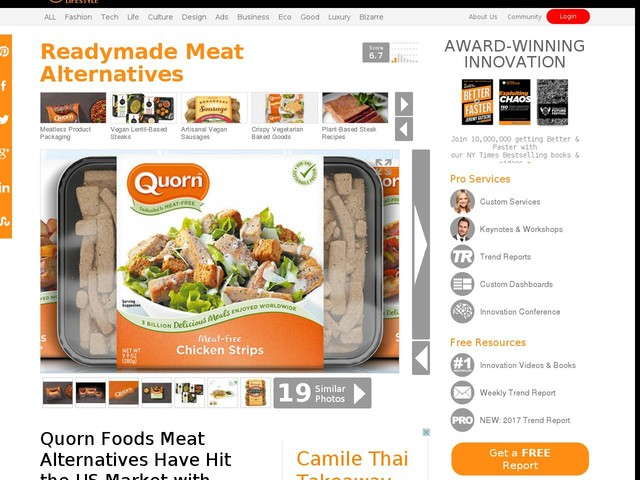 Readymade Meat Alternatives - Quorn Foods Meat Alternatives Have Hit the US Market with New Options (TrendHunter.com)