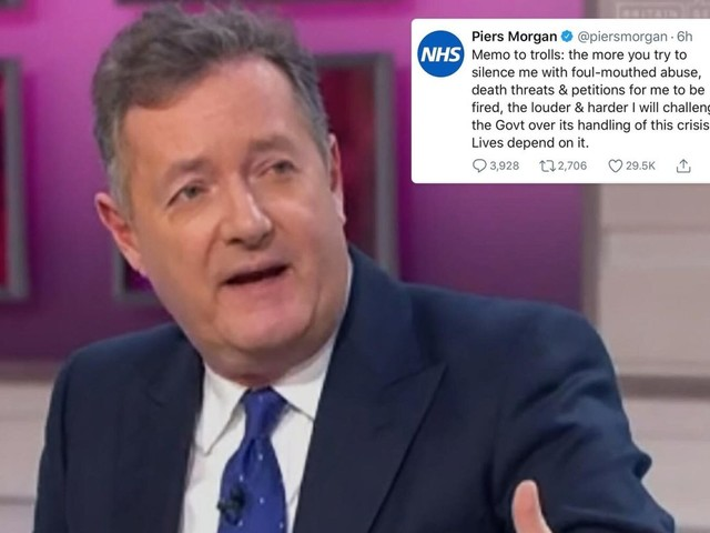 Piers Morgan reveals he's had death threats amid petition to get him sacked – but more back campaign to keep him on GMB