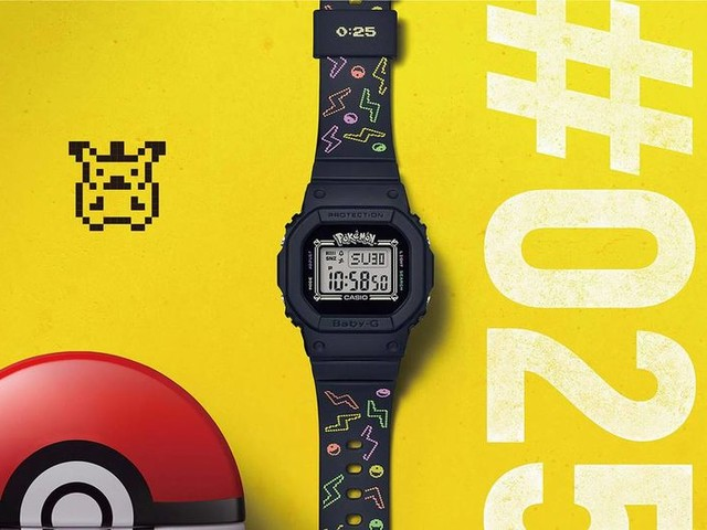 Celebratory Pokémon-Inspired Timepieces - Casio G-SHOCK Releases an Old School Watch Design (TrendHunter.com)