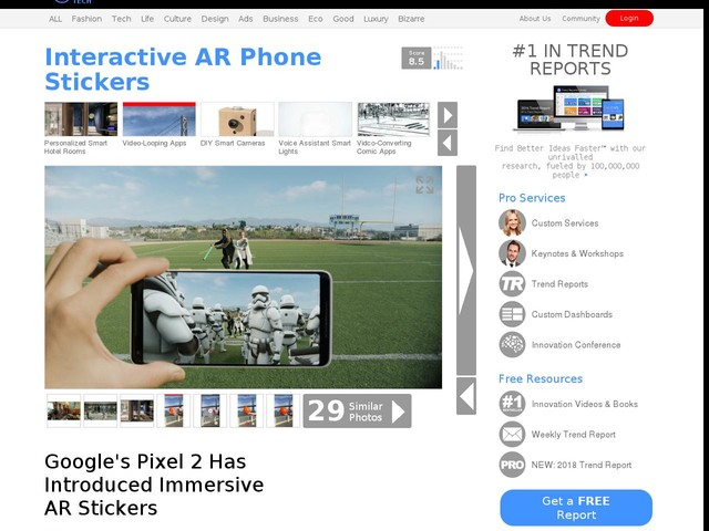 Interactive AR Phone Stickers - Google's Pixel 2 Has Introduced Immersive AR Stickers (TrendHunter.com)