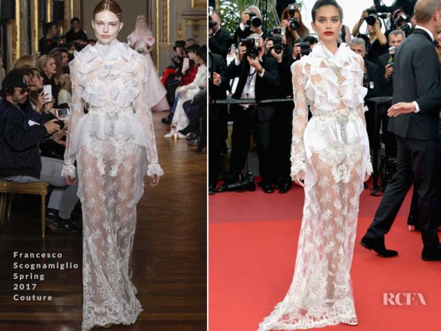 Sara Sampaio In Francesco Scognamiglio Couture – 'The Killing Of A Sacred Deer' Cannes Film Festival Premiere
