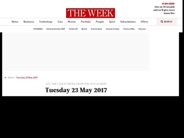 Tuesday 23 May 2017