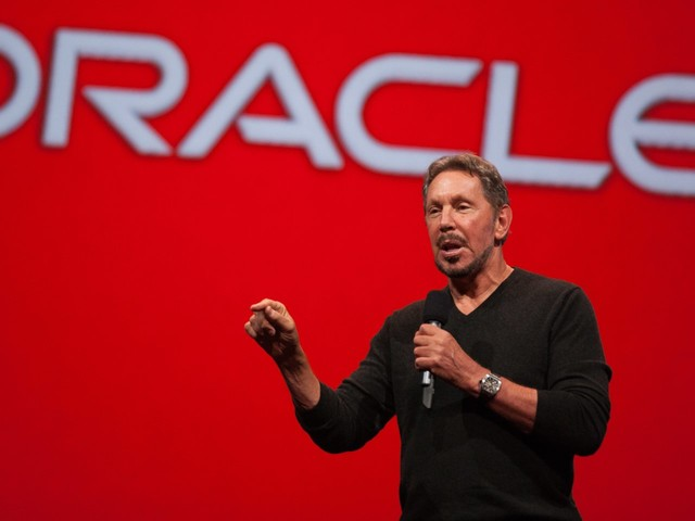 Larry Ellison says Oracle's new database is pulling companies away from Amazon Web Services (ORCL)