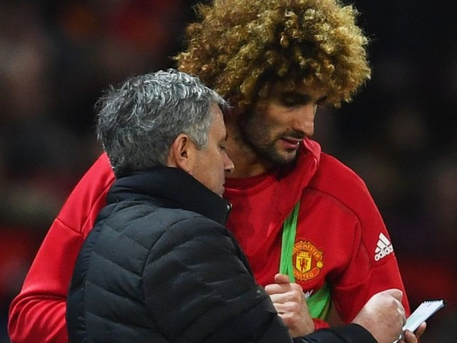 Manchester United fans send Jose Mourinho Marouane Fellaini message