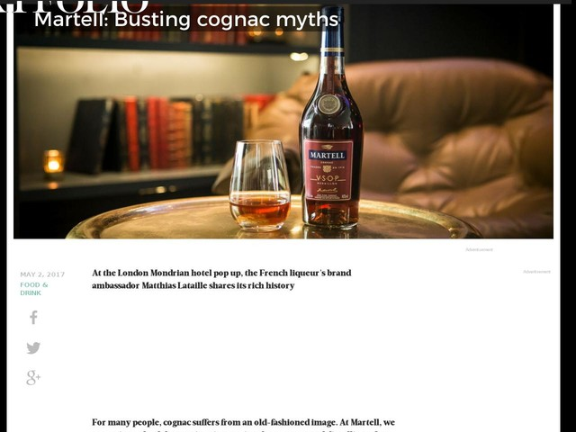 Martell: Busting cognac myths