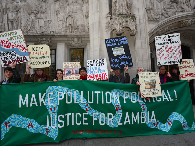 Zambian farmers are suing a British mining company and may set an important precedent