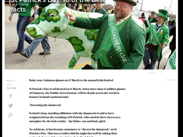 St Patrick's Day: 10 of the best facts