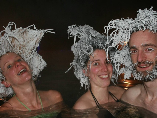 People in Canada are participating in a Hair Freezing Contest in -22°C weather, and the pictures will make you shiver