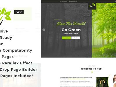 Hubli - Environment WordPress Theme (Environmental)