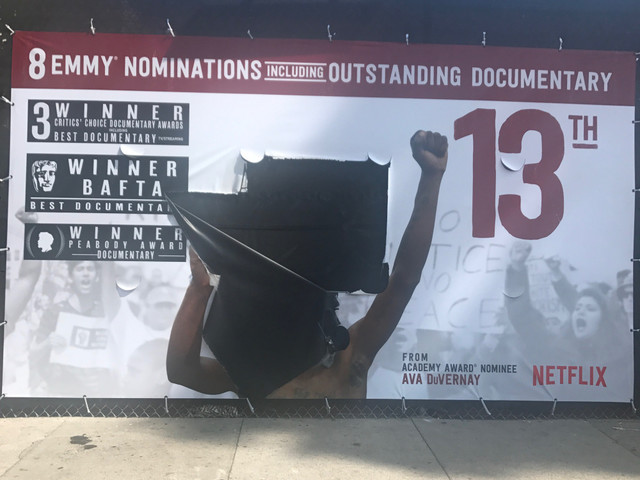 '13th' Poster Vandalized as Nation Grapples With Racially Charged Moment