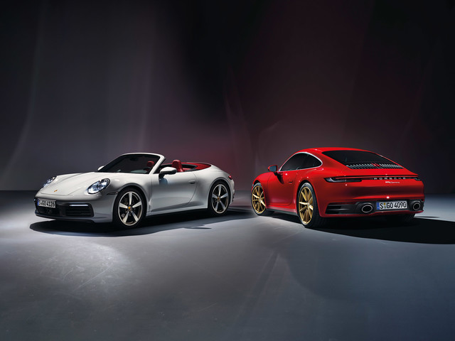 Entry-level Porsche 911 Carrera revealed in coupe and cabriolet forms