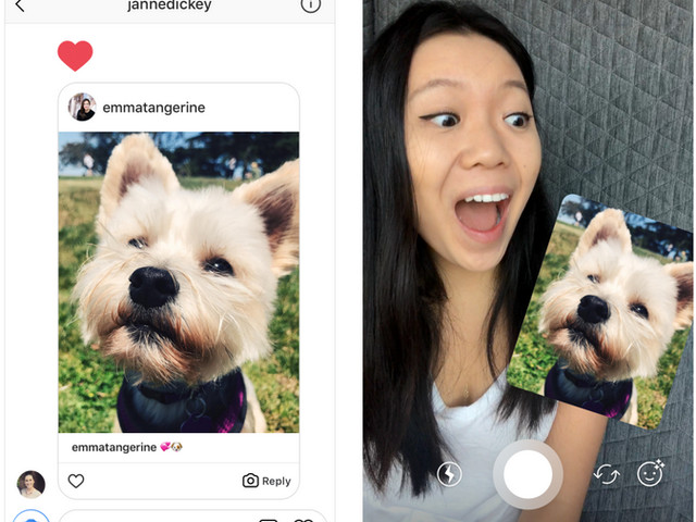 With the latest update, you can reply to messages on Instagram using videos and photos
