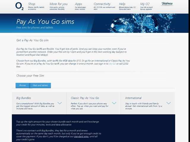 Pay as you go sim | Order free sim cards today from O2