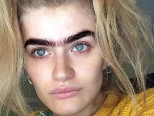 Model Sophia Hadjipanteli's Black Unibrow Is Making Us All Want To Ditch The Tweezers Permanently
